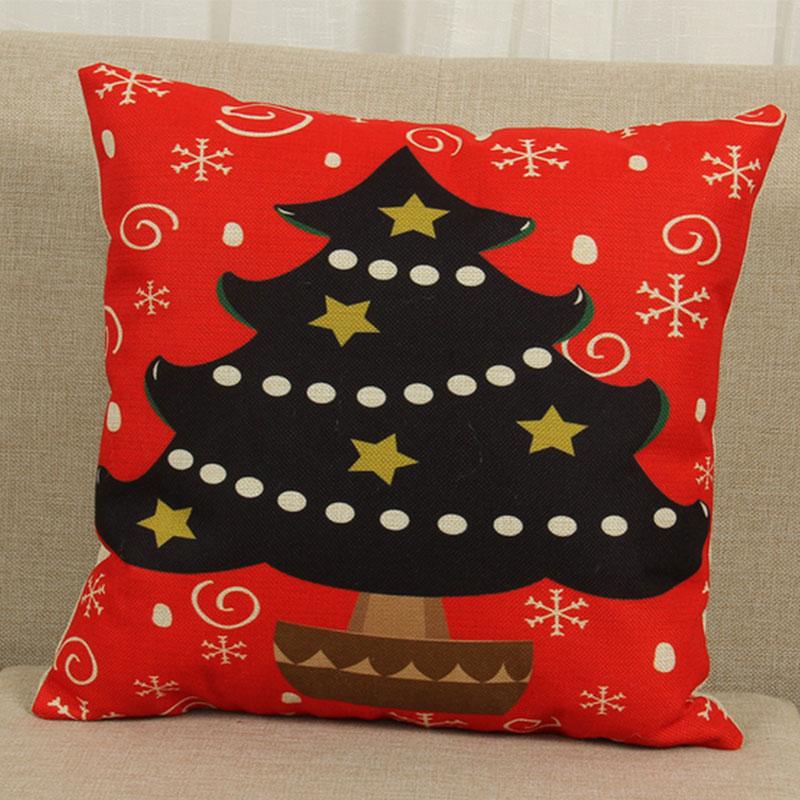 Christmas Xmas Linen Cushion Cover Throw Pillow Case Home: Cute Christmas Style Home Decor Waist Throw Cushion Covers