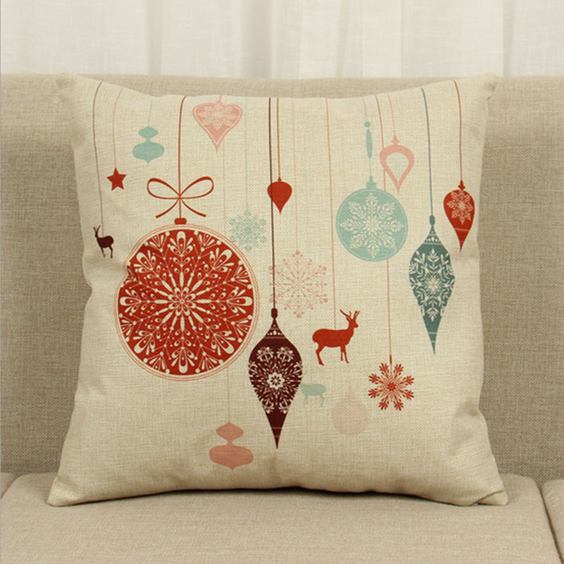 Cute Pillow Cases : Cute Christmas Style Home Decor Waist Throw Cushion Covers Pillow Cases eBay