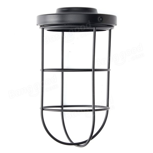 Ceiling Light Bulb Guard : Bulb cage guard iron vintage ceiling cover shade for home