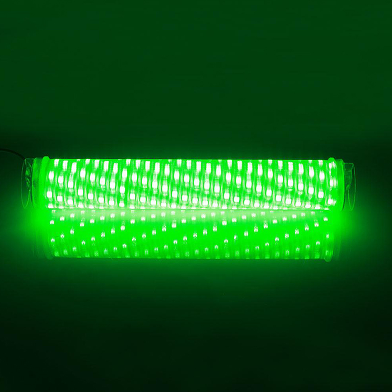 12v led underwater attracting fish lamp submesible fishing for Green fishing lights
