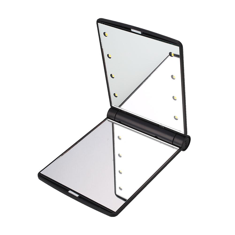 20 led lighted make up cosmetic vanity mirror desktop rotation bathroom dressing. Black Bedroom Furniture Sets. Home Design Ideas