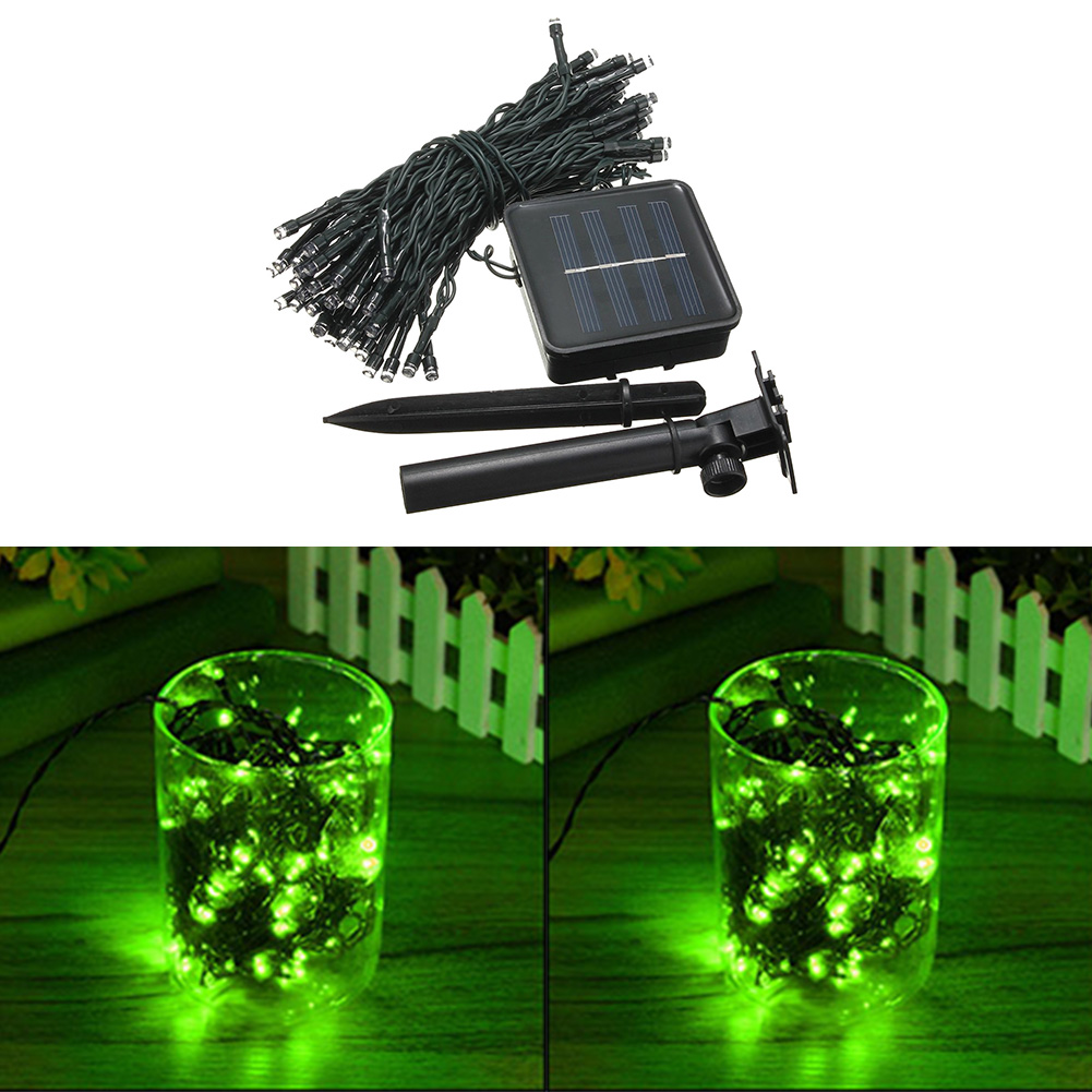 Led String Lights For Cars : 17M Xmas Solar Auto 100-LED Strip String Light Cord For Garden Garland Lamp eBay
