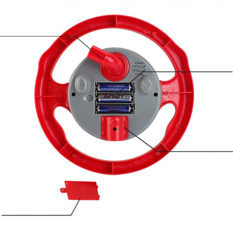 Back Seat Car Steering Wheel Toys Game Electronic Sounds