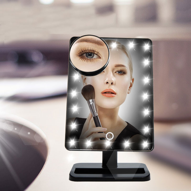 Led Lights For Makeup Vanity : 20 LED Lighted Make Up Cosmetic Vanity Mirror Desktop Rotation Bathroom Dressing eBay