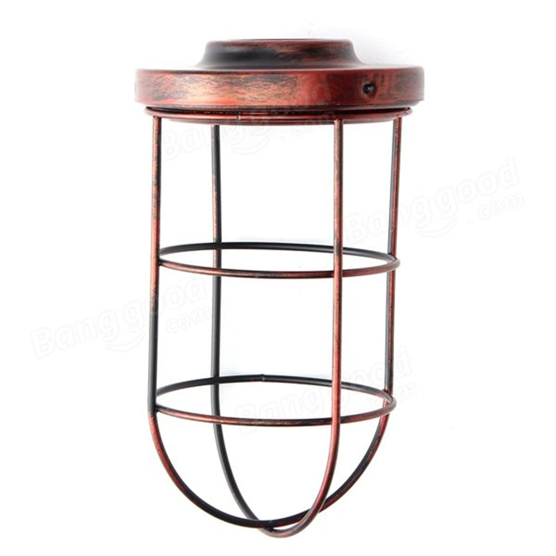 Ceiling Light Bulb Guard : Bulb cage guard iron vintage ceiling pendant lamp shade