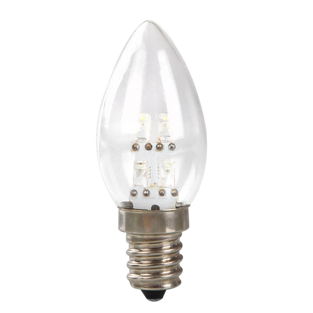Led Bulb Dc: Hot E12 LED 0.5W Candle Light Bulb DC 220V 80LM White/Warm