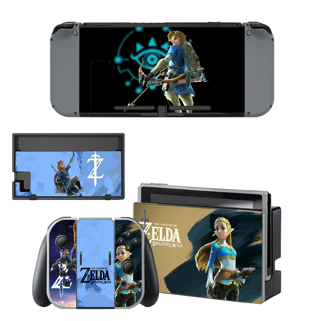 For nintendo switch console gamepad skins vinyl decals for Housse zelda nintendo switch