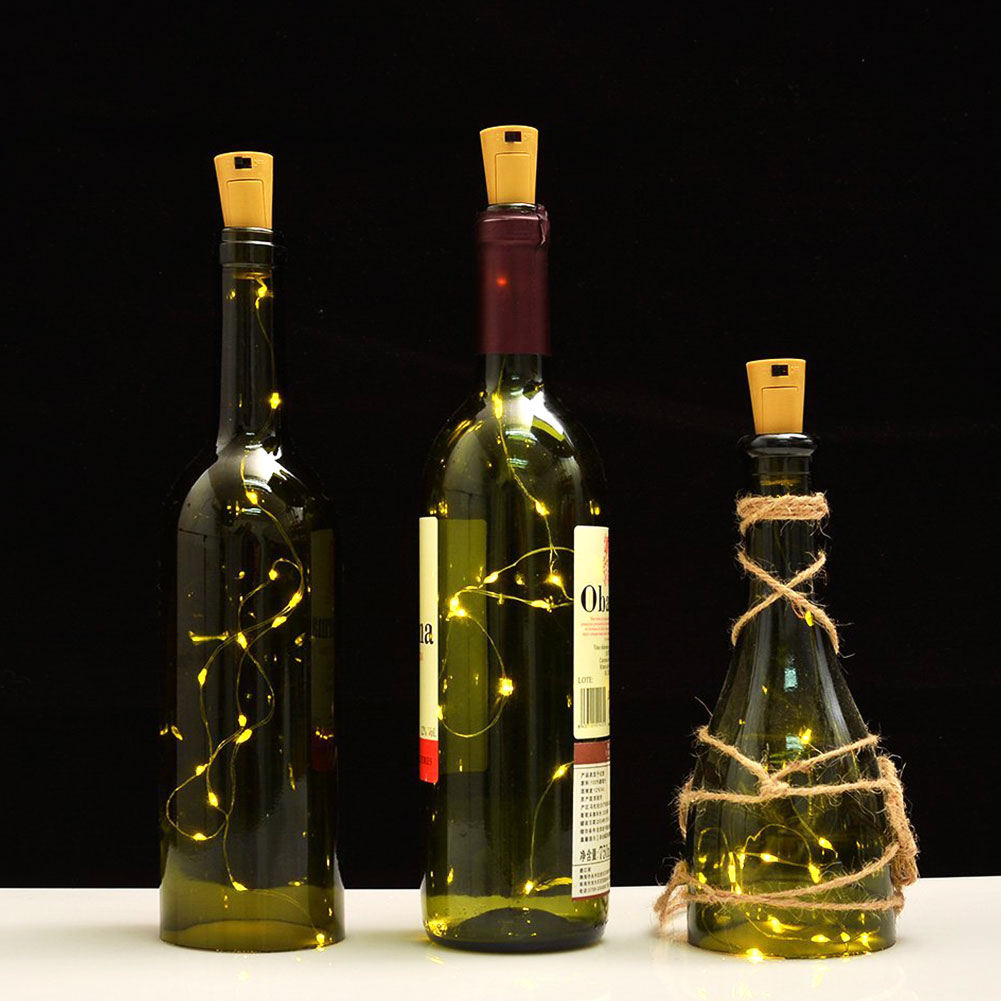 Cork Shaped Wine Bottle Led Night Starry Light String 5cm