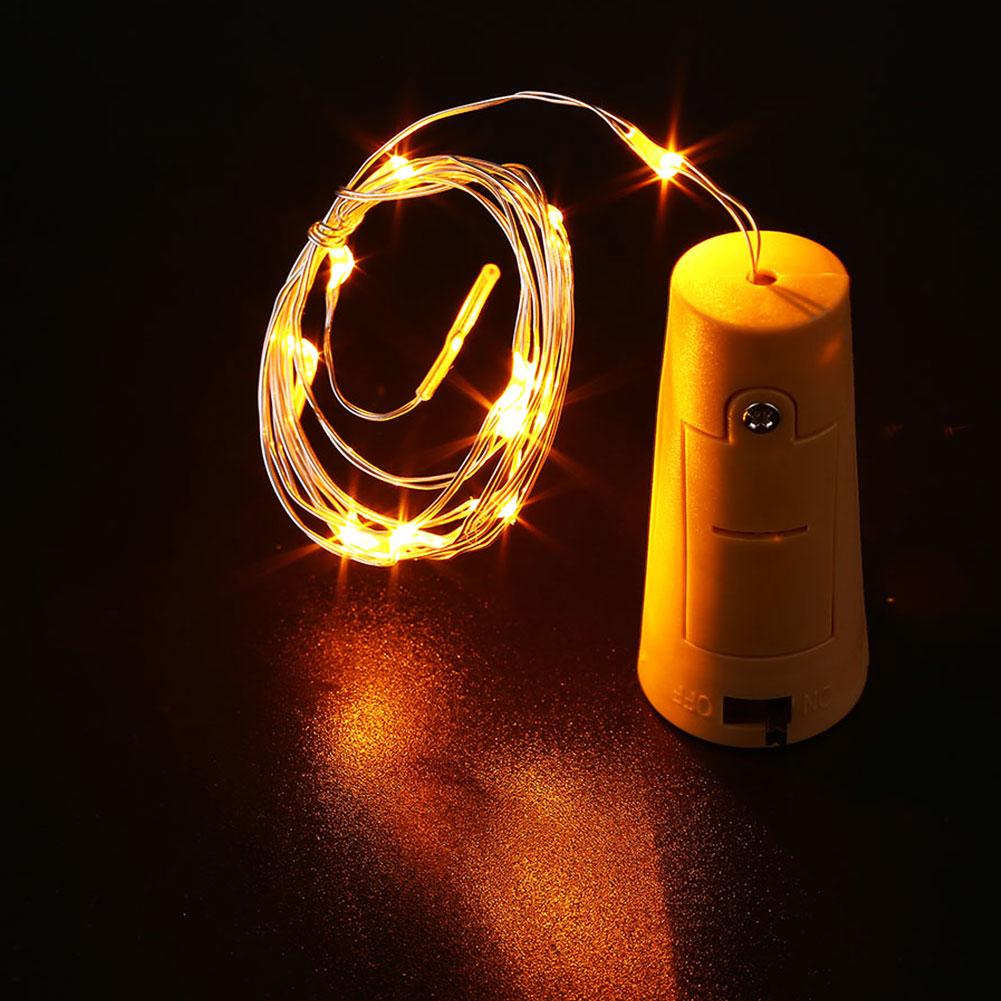 Cork shaped wine bottle led night starry light string 5cm for Wine bottle night light diy