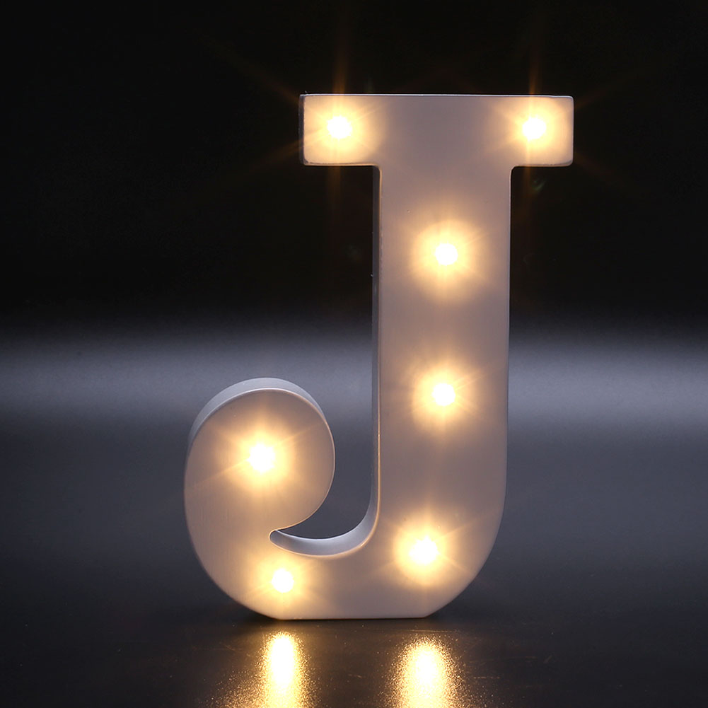 Creative 26 Letters Led Warm White Light Bedroom Wall