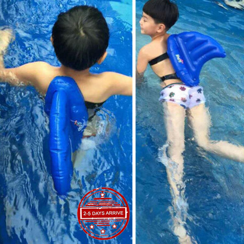 Inflatable Shark Fin Water Swim Ring Float Swimming Pool Learning Tool For Kids Ebay