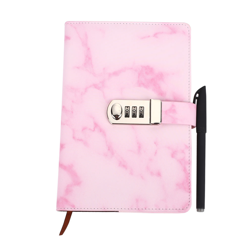 5301 Gifts Office Supplies Diary Notebook Concise A5 Vintage Marbling Student