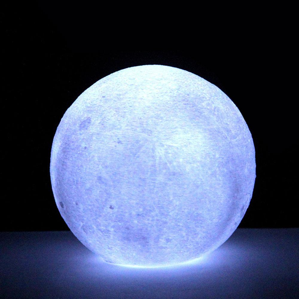 5906 Mondlicht Mondlampe  3D-Druck 11cm  Multicolor Schreibtischlampe Erde Für