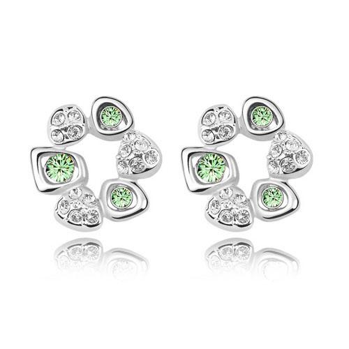 D38C-Trendy-Wreath-Flower-Rhinestone-Earrings-Zircon-Flash-Women-Stud-Girls