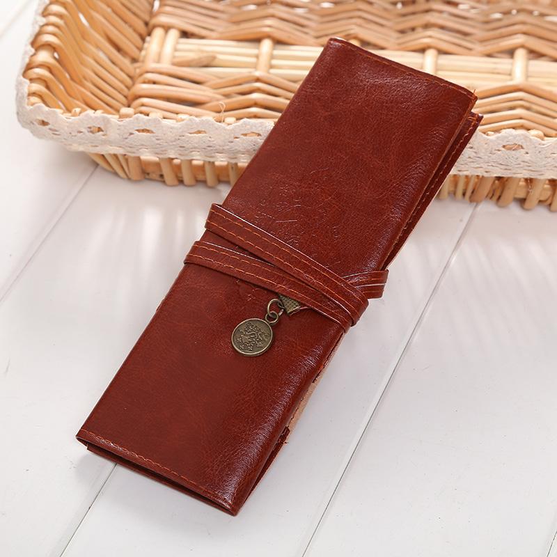 62E0-Vintage-Roll-Leather-Makeup-Brush-Pen-Case-Organizer-Pouch-Bag-School