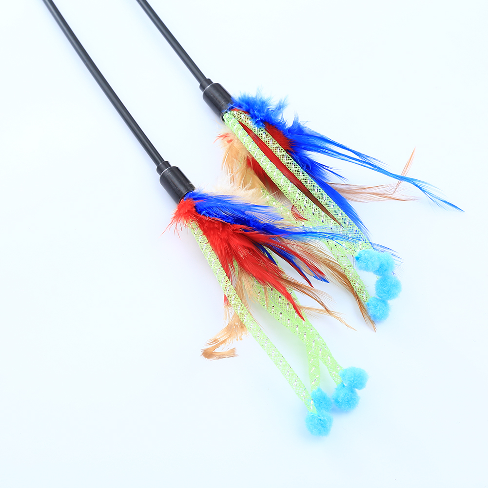 New pet products cat toys fishing rod type with mix for Cat toy fishing pole