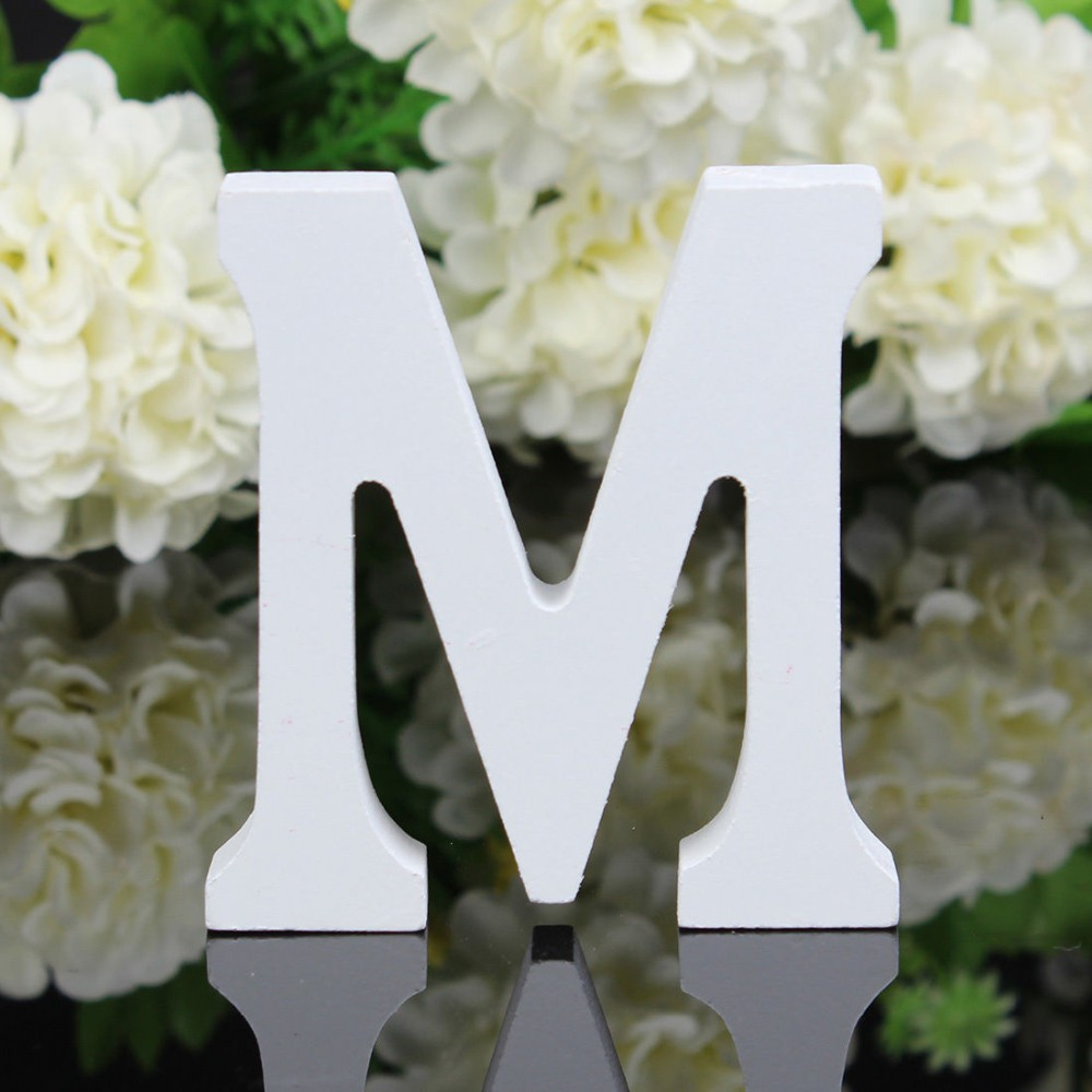 wooden letters alphabet bridal wedding birthday names decorations free standing ebay. Black Bedroom Furniture Sets. Home Design Ideas
