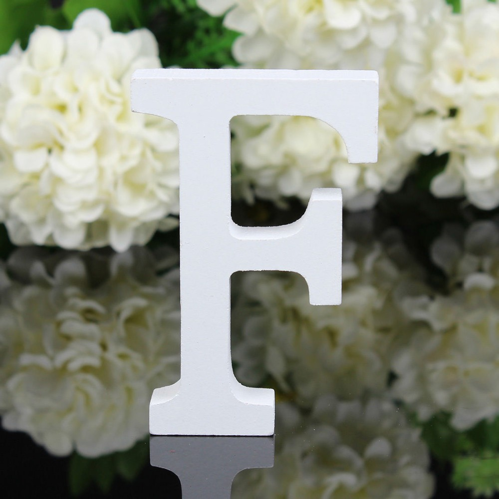 White Wooden Letters Alphabet Wedding Party Home Wood