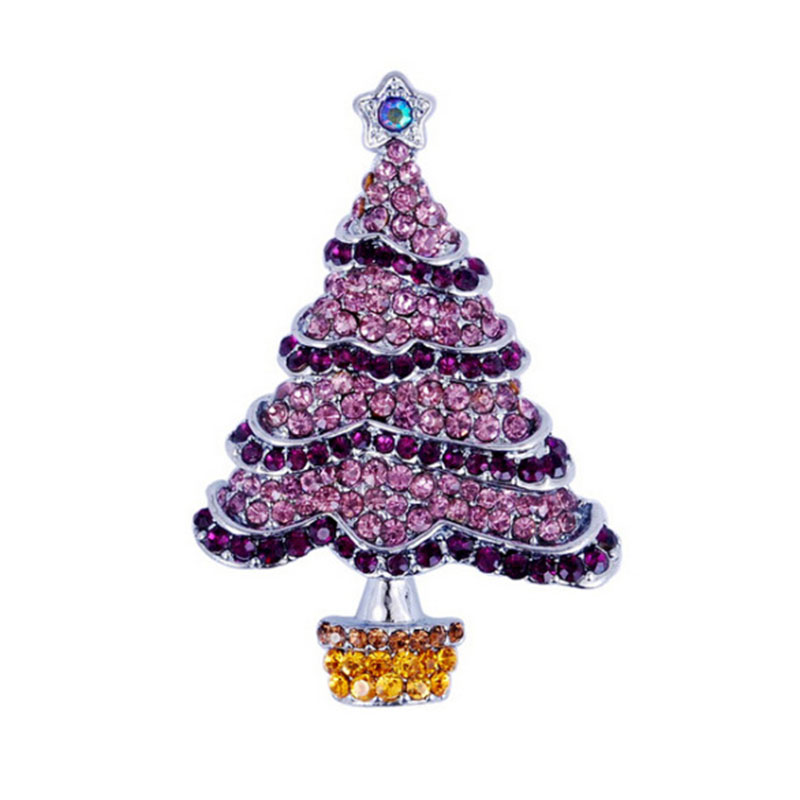 Vintage xmas christmas tree brooches pin rhinestone jewelry ebay