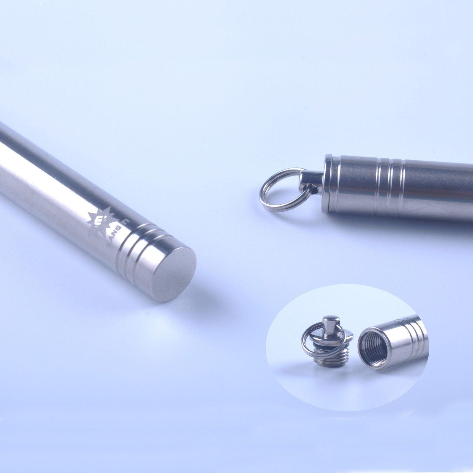 Titanium pocket toothpick holder container outdoor keychain keyring gift ebay - Toothpick holder pocket ...