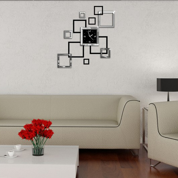 New Style Modern Acyrlic Mirror Living Room Wall Clock Clock Part 4