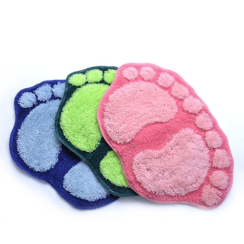 Anti Slip Footprints Big Feet Bath Floor Mat Bedroom On