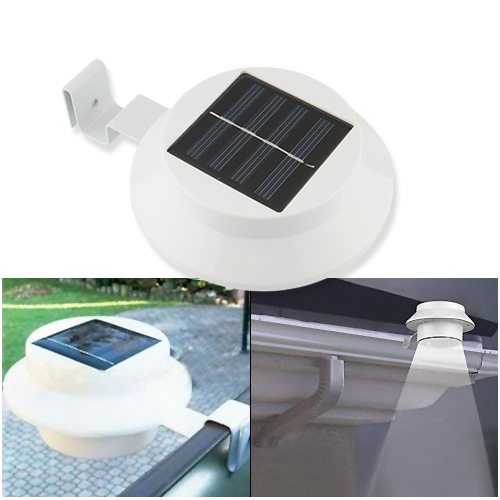 1x3 led solarlampe zaun gosse licht au en lampe garten wandleuchte lampe ebay. Black Bedroom Furniture Sets. Home Design Ideas