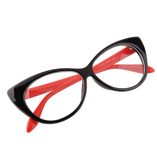 Retro-Lady-Eyeglasses-Eyes-Glasses-Black-Leopard-Zebre-Clear-Lens-Eyewears