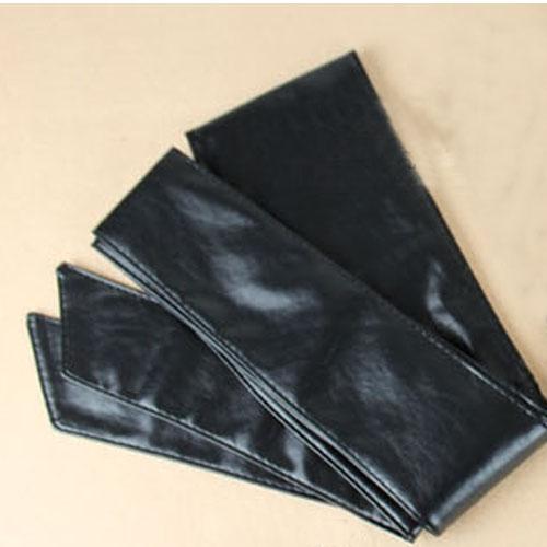 hotest stunning faux leather around tie waist