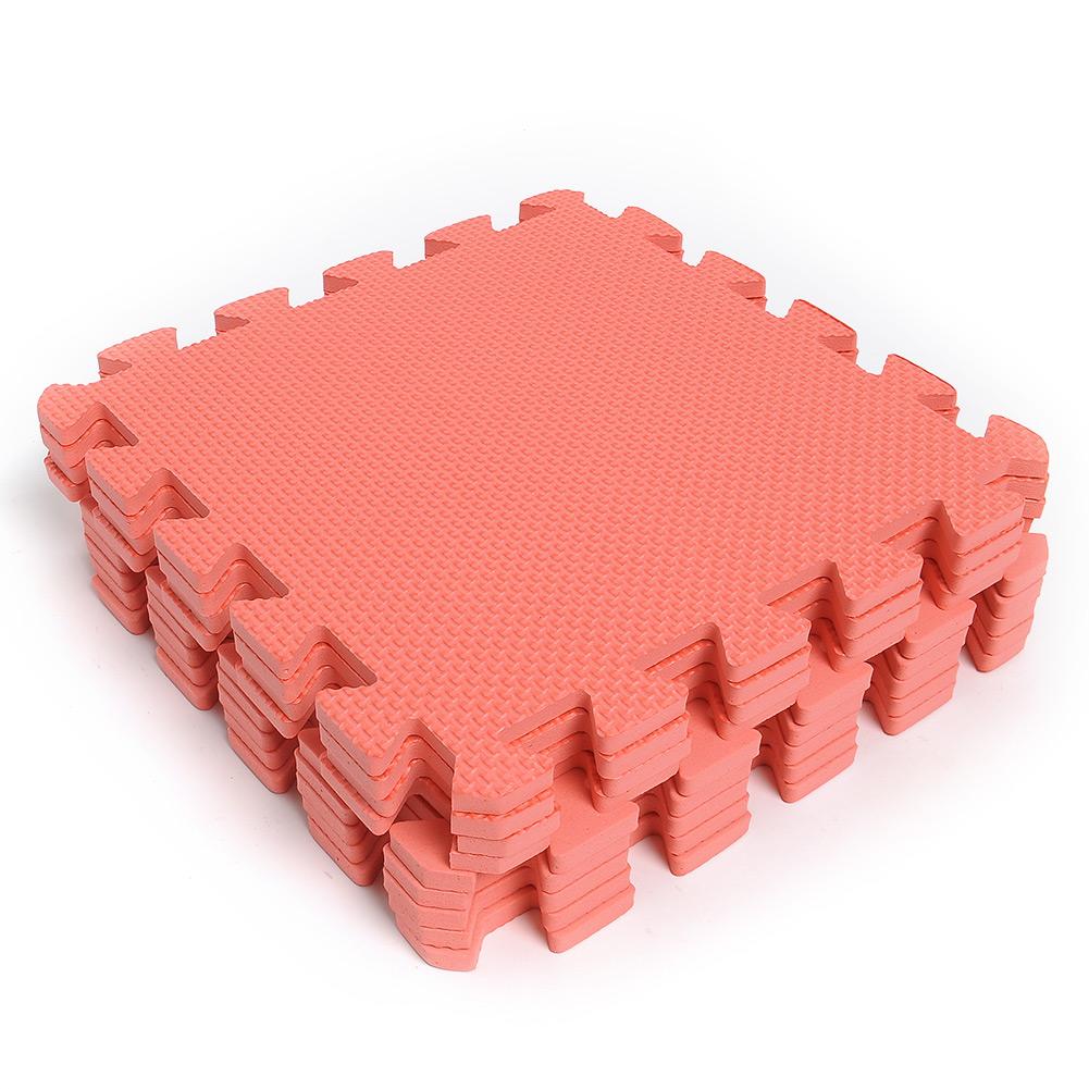 FB25-9xEVA-Foam-Floor-Mat-Interlocking-Exercise-Gym-Kids-Playground-Tiles-Red