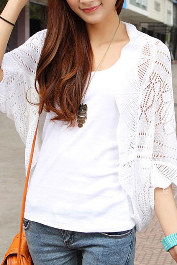 Women Ladies Knitted Crochet Kimono Tops Coat Cardigan Blazer Jacket Shawl