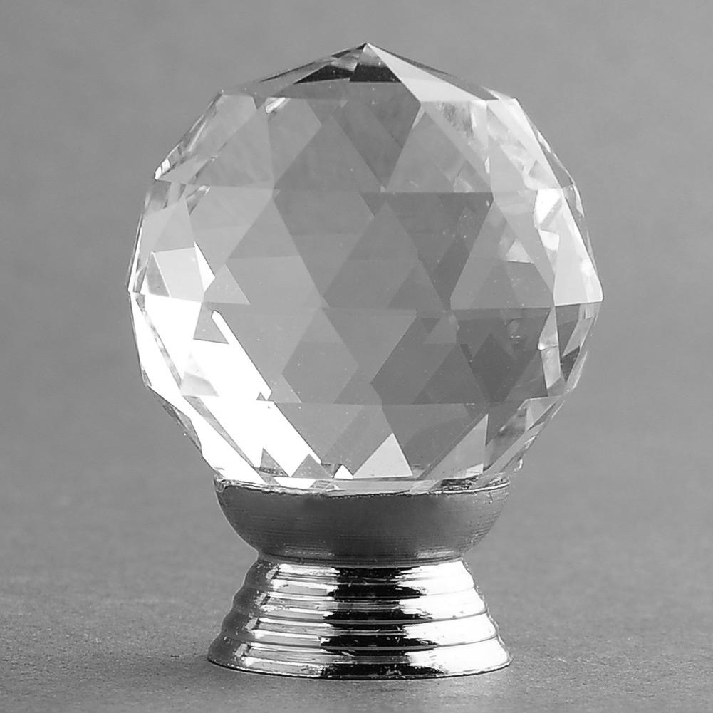 30mm rund kugel glas kristall t rknauf griff kn pfe f r schubladen garderobe ebay. Black Bedroom Furniture Sets. Home Design Ideas
