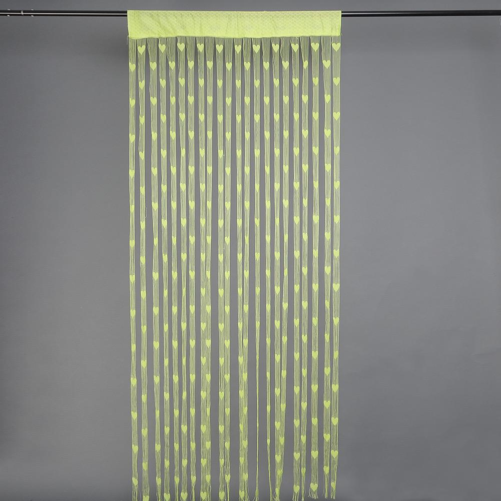 1xbunt herz linie string quaste gardine portiere f r. Black Bedroom Furniture Sets. Home Design Ideas