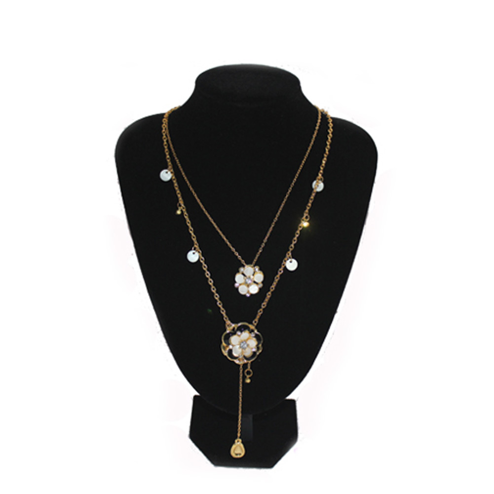 quality black velvet necklace pendant display bust neck. Black Bedroom Furniture Sets. Home Design Ideas