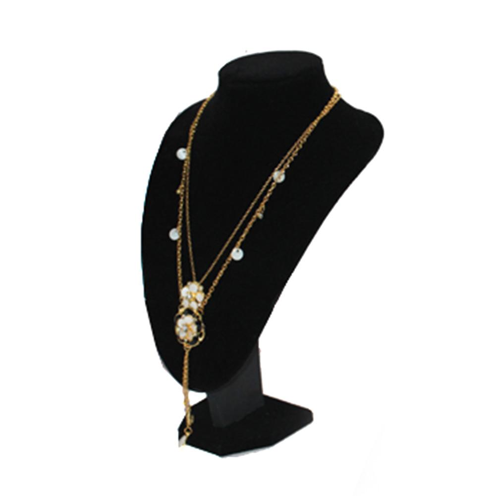 quality black velvet necklace pendant display bust model. Black Bedroom Furniture Sets. Home Design Ideas