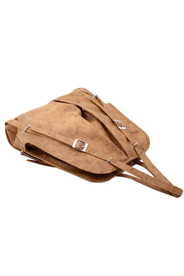 Neu Damen PU-Leder Messenger Hobo Handtasche Schultertasche Rucksack-Geldbeutel