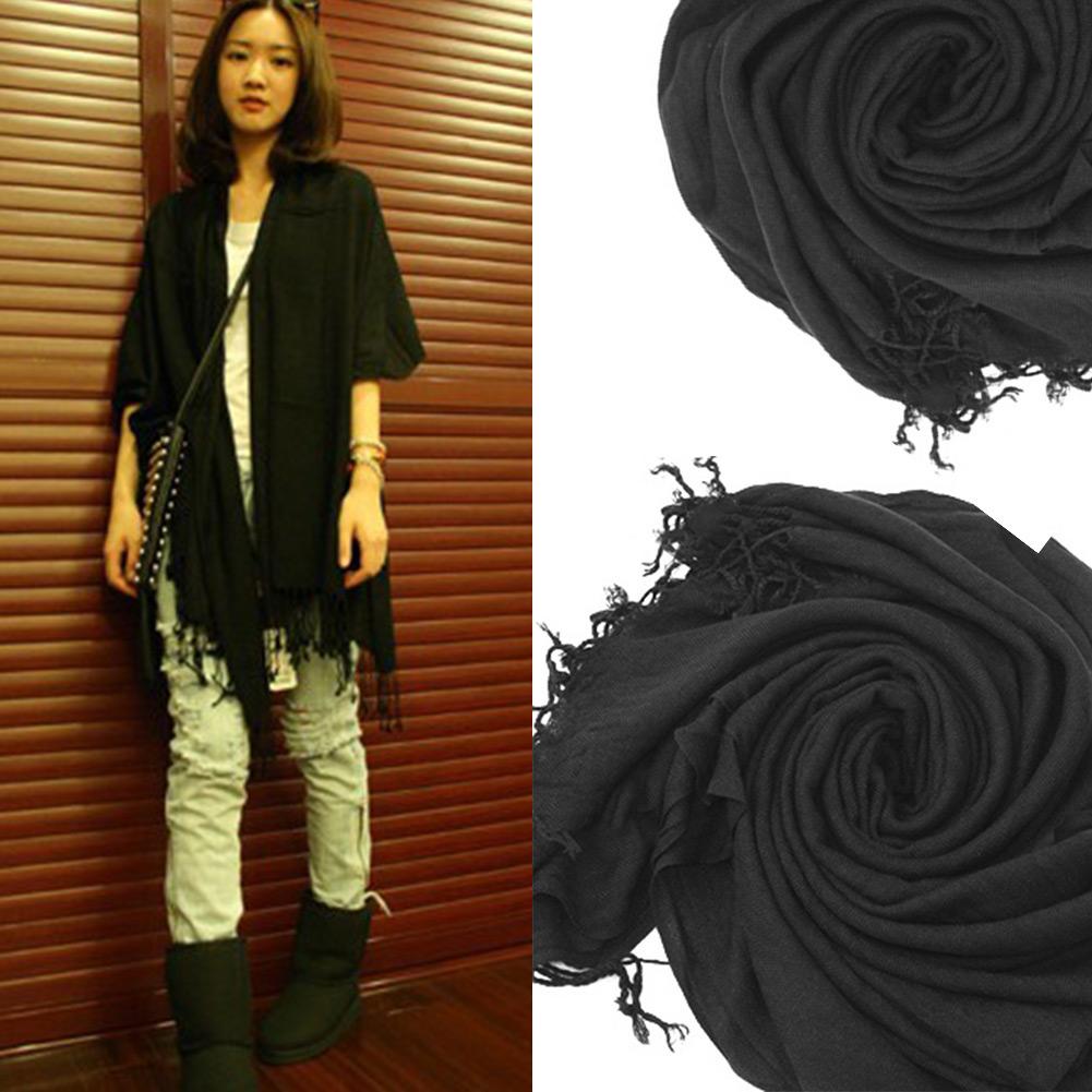 HOT! Wrap Scarf Wool Comfy Multicolor Warm Scarves Long Shawl Tassels 9 Color