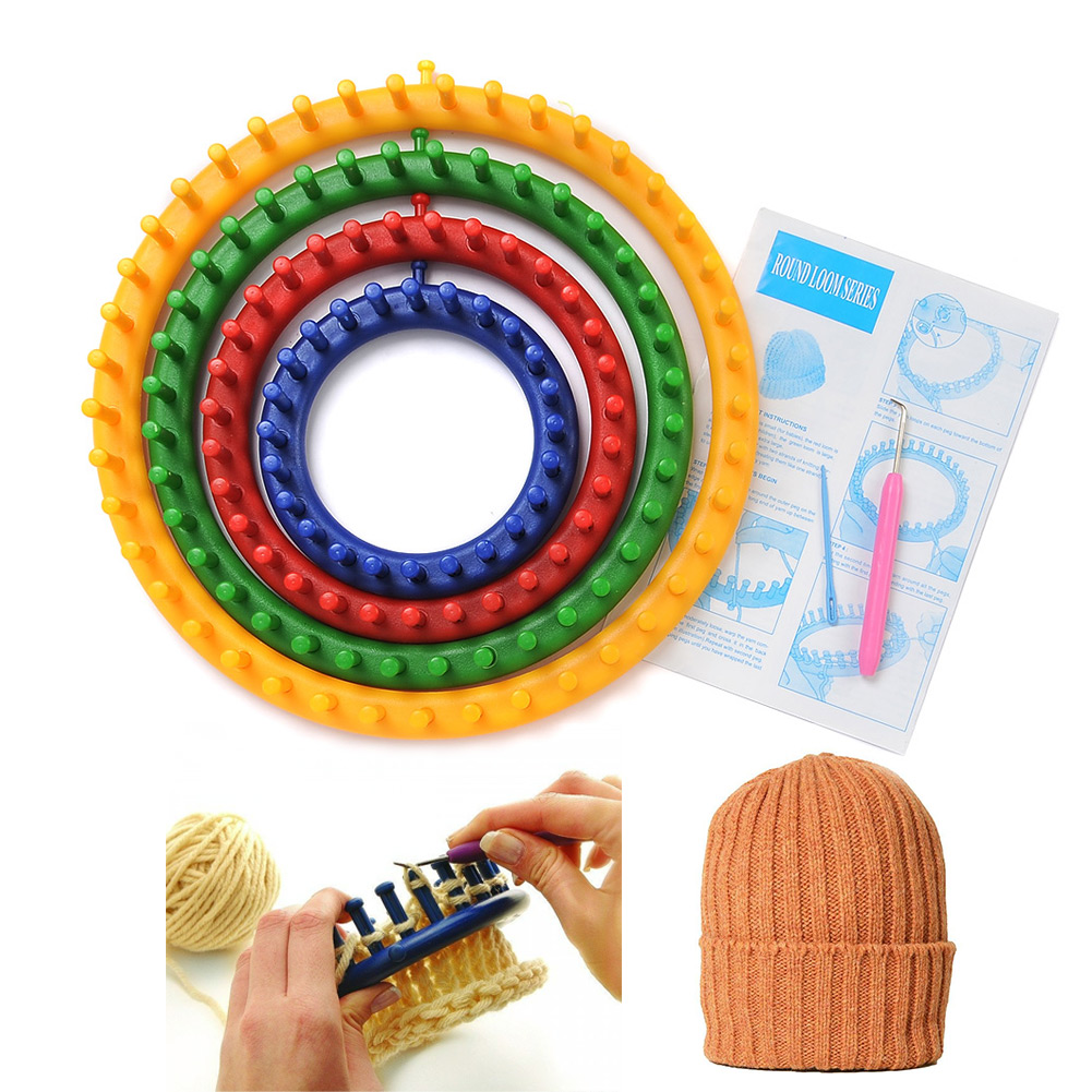 Knitting Loom Set : Set size quality round circle hat knitter knifty