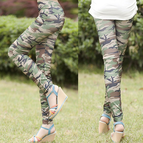 cool fashion frauen damen tarnfarbe leggings hose army. Black Bedroom Furniture Sets. Home Design Ideas