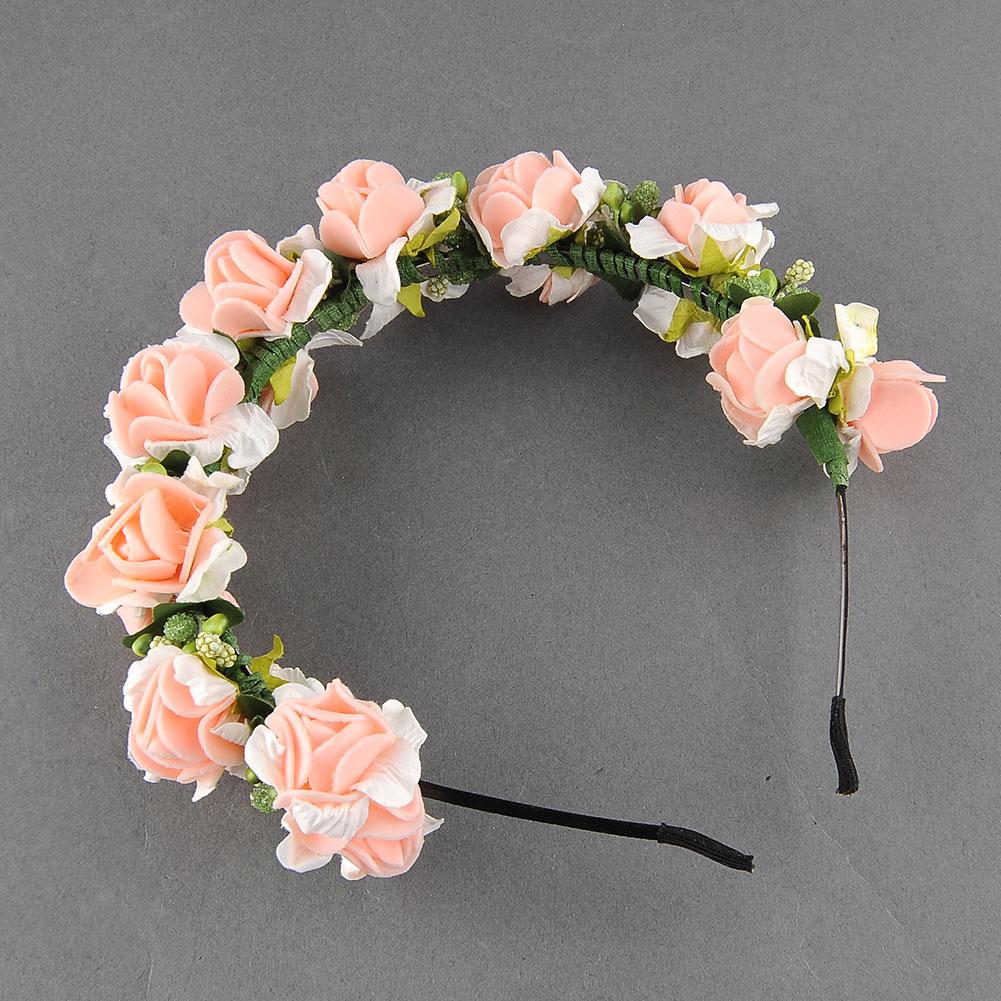 Flower Garland: BOHO Flower Garland Floral Bridal Headband Wedding Party