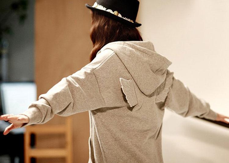 Fashion Cute Womens Girls Angel Wings Hoodie Sweatshirt Outerwear Tops