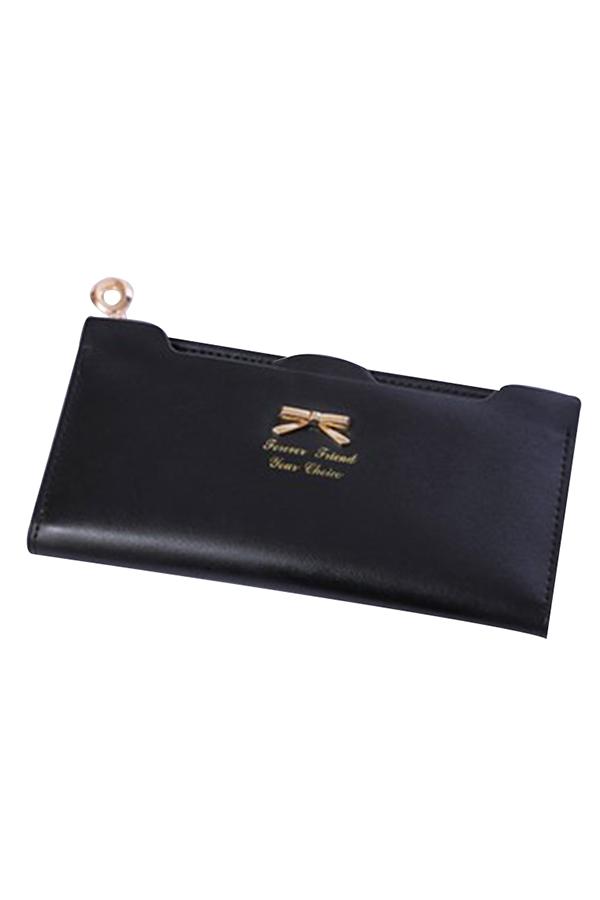 Hot Women's Soft Leather Bowknot Clutch Zip Wallet Long PU Card Purse Wallet