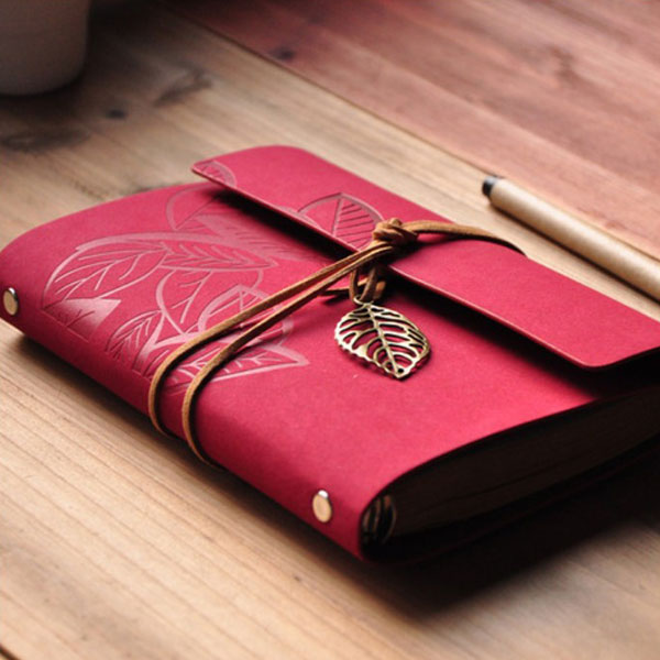 Retro Vintage PU Leather NoteBook Diary Journal Stationery Travel Gift
