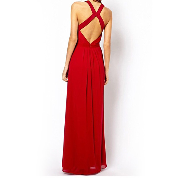 Hot New Summer Evening Backless Sexy Long Sleeveless Dress Cocktail Party Casual