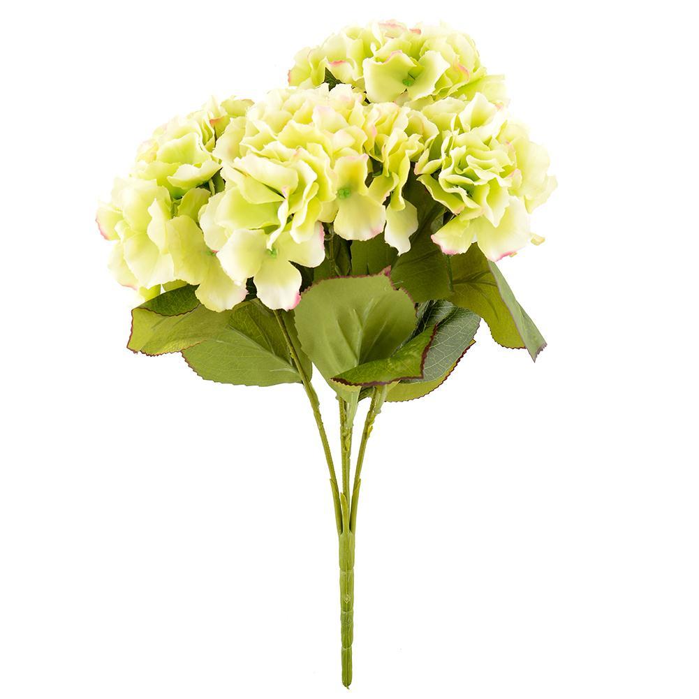 5 Flower Heads Artificial Flower Bunch Bouquet Home Garden Floral Hydrangea