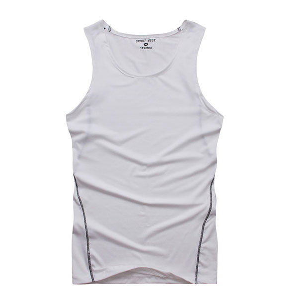 New Summer Mens Boy Sleeveless Tank Tights Elastic Tops Shirts Sports Vest