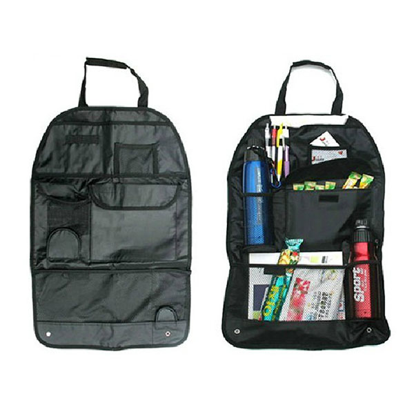 Car Seat Back Organizer Collector Fabric Storage Multi-Pocket Holder New
