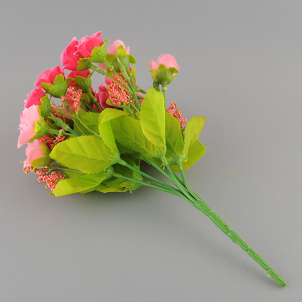 21pcs artificial flower fake silk flower arrangement for Artificial flower for decoration
