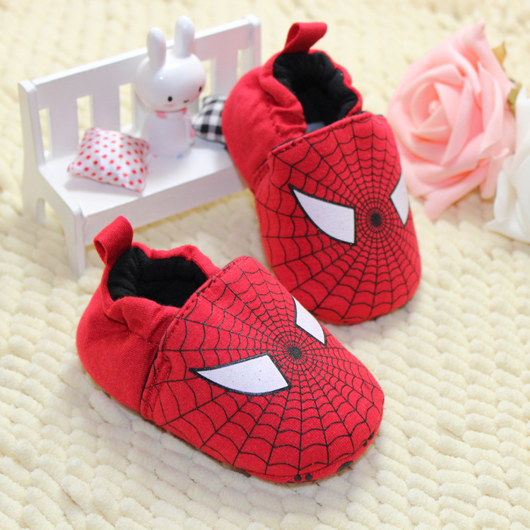New Cute Kids Baby Girl Infant Soft Toddler Spider-Man Not Drop Cloth Shoes