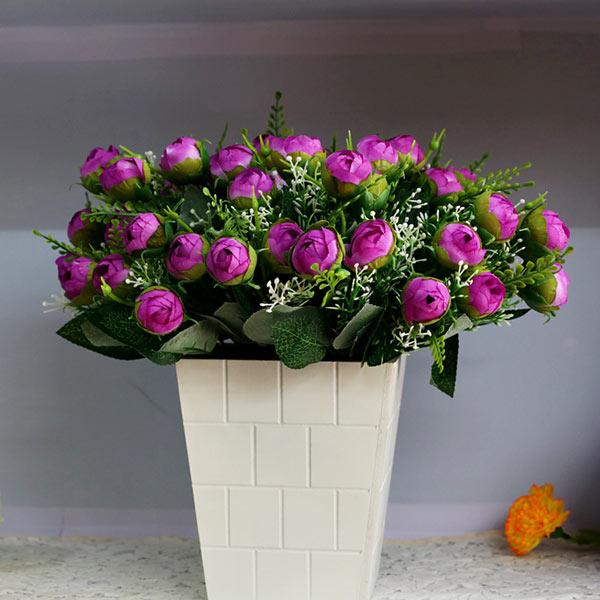 Artificial Silk Flower Leaf Bridal Bouquet Hotel Decor Flower Arrangement